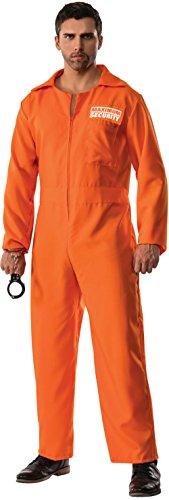 Pizazz! Men's Maximum Security Escaped Prison Convict Uniform Costume 2XL 48-50 ()