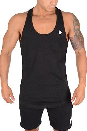 YoungLA Mens Stringer Gym Tank Top Muscle Bodybuilding Powerlifting 302 Black Medium