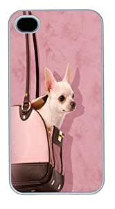 Handbag Chihuahua PC For Case Ipod Touch 4 Cover and For Case Ipod Touch 4 Cover White