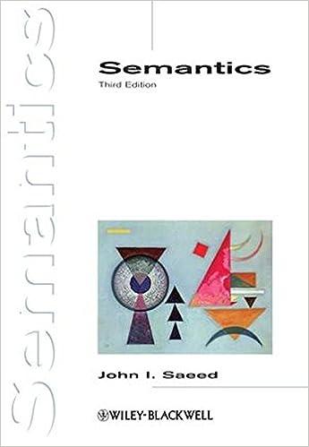 SEMANTICS 3RD EDITION JOHN SAEED DOWNLOAD