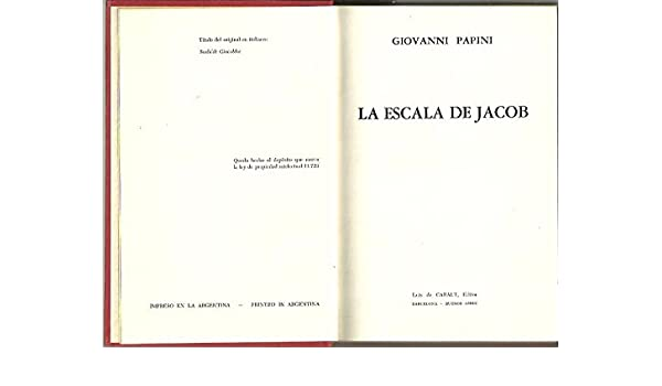 LA ESCALERA DE JACOB.: Amazon.es: PAPINI, Giovanni.: Libros