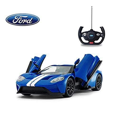 1/14 Scale Ford GT RC Car Licensed Radio Remote Control RTR Sports Car Model Gift Toys for Kids, Open Doors, Blue