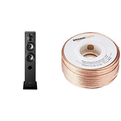 Sony SSCS3 3-Way Floor-Standing Speaker (Single) & AmazonBasics SW100ft  16-Gauge Speaker Wire - 100 Feet (Sony Sscs3 3 Way Floor Standing Speaker Single)