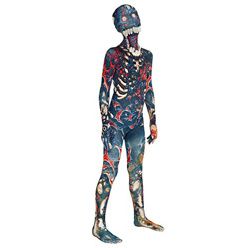 "Burnt Zombie Jaw Dropper Kids Monster Morphsuit Fancy Dress Costume - size Medium 3""7-4""0 (Four Element Costumes)"