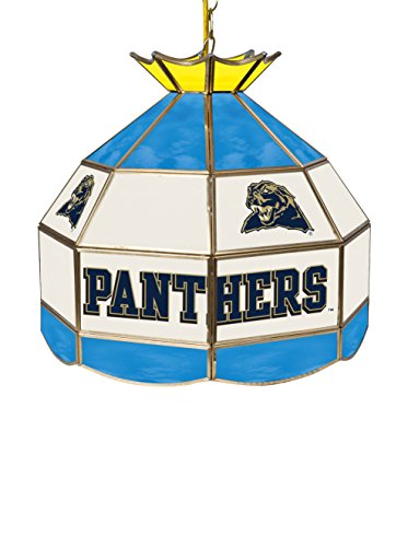 Stained Lamp Glass Pittsburgh (Trademark Global CLC1600-PITT Universityof Pittsburgh Stained Glass Lamp - 16 Inch, Blue, Light Blue, White, Yellow, Gold, 16Lx16Wx16H)