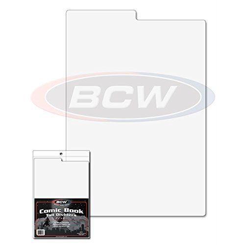 Tab Comic Book Tall Dividers for Comic Boxes By BCW ()