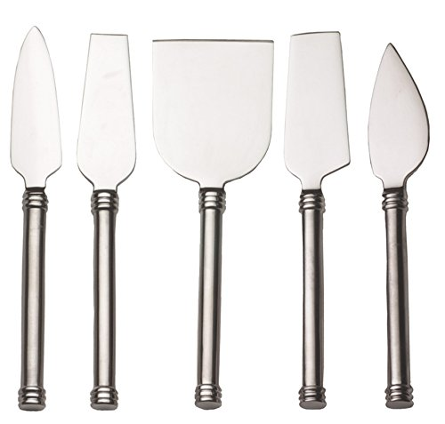 RSVP International Endurance Stainless Steel Cheese Knives, Set of 5 -