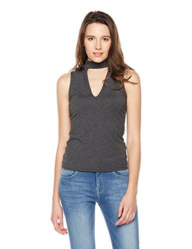 Something for Everyone Women's Sleeveless Jersey Mock Neck Top X-Large Heather (Heather Grey Sleeveless)