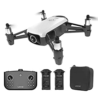 HR WiFi RC Drone with Camera Gesture Control RC Quadcopter for Beginners with Altitude Hold Gravity Control Follow Mode One Key Take Off/Landing Good Choice for Drone Training Toy Gift for Kids(White)