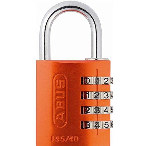 ABUS 145/40 Aluminum Orange Combination Padlock