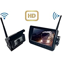 Digital Wireless Backup Camera System Kit HD Waterproof Strong Anti-interference 7 inch LCD With Night Vision Rear View Reversing Security Monitor Set For Truck/Trailer/Van/Bus/RV (7 inch)