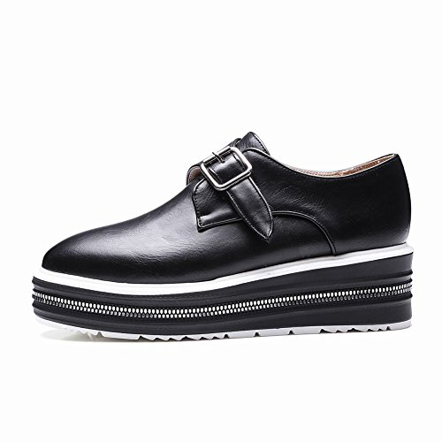 Sangles Latino Pour Femmes Latasa Slip On Mocassins Chaussures Noires