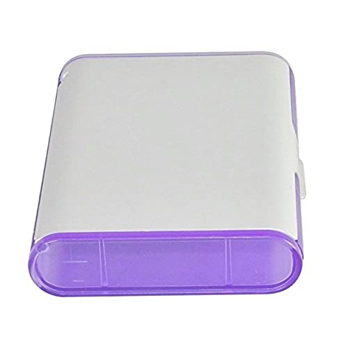 Outlet business card caddy 4x3 translucent purple with aluminum colourmoves