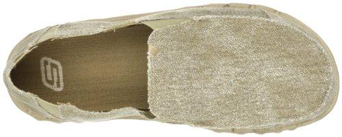 Skechers Heren 63335 Tride Miron Canvas Slip Op Schoen Bruin