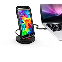 KiDiGi USB 3.0 RUGGED CASE CHARGER SYNC CRADLE DOCKING STATION FOR SAMSUNG GALAXY S5 (ALSO FOR GALAXY NOTE 3)