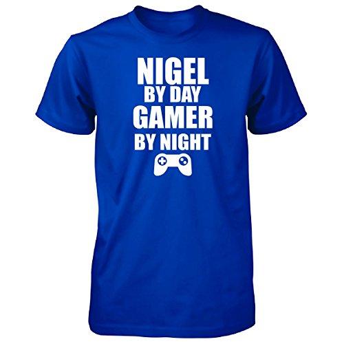 Nigel By Day Gamer By Night - Unisex Tshirt Royal - Night Nigel