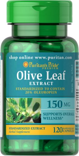 Puritan's Pride Olive Leaf Standardized Extract 150 mg-120 Capsules For Sale