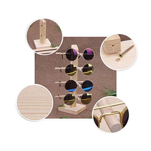 LUOEM Wooden Sunglasses Display Holder Eyeglasses Organizer Stand Rack with 4 Layers by LUOEM (Image #2)