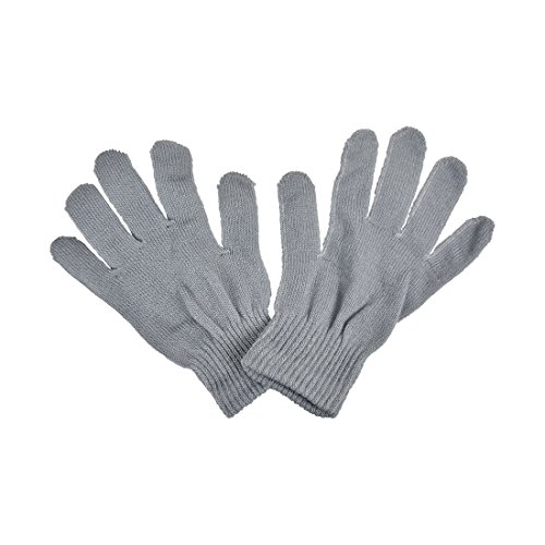 Motique Accessories Ladies Gloves Magic Knit Gloves For Women Solid Colors   Light Grey