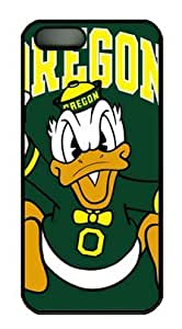 iPhone 5 Case,iPhone 5S Case,Oregon Ducks on Green PC Hard Shell Black Edges Case for iPhone 5 5S