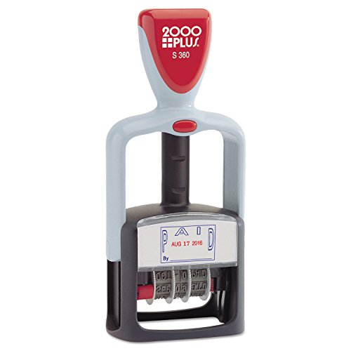 COSCO 2000 Plus 2-Color PAID Dater - Plastic Plus 2000 Stamp