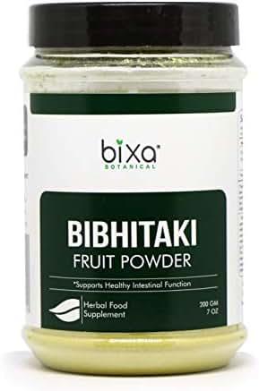 Bibhitaki Powder (Terminalia Belerica) - 200g (7 Oz),Natural Mild Laxative & General Tonic   Ayurvedic Herbal Supplement to Eliminate Toxic Waste from intestine,Tonic for Eyes & Hairs  