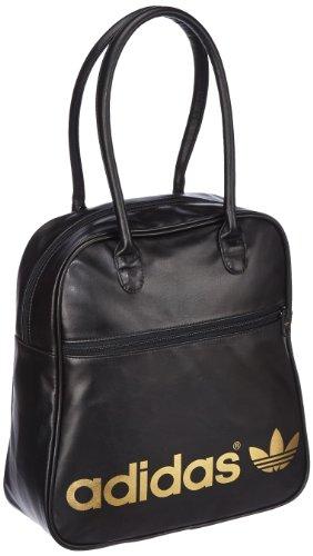 0ff8c046f5da Adidas Womens Adicolor Bowling Bag 12 cm x 31 cm x 33 cm Black-Gold ...