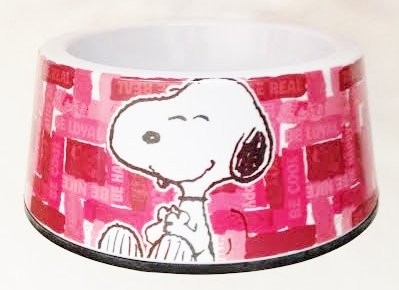 Peanuts Red Snoopy Dog Food Bowl – 100% Heavy Melamine (5″ Wide) For Sale
