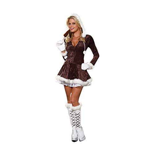 Dreamgirl Women's Eskimo Cutie Sexy Adult Costume X-Small Brown -