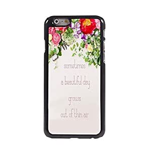 QJM A Beautiful Day Pattern Aluminum Hard Case for iPhone 6 Plus