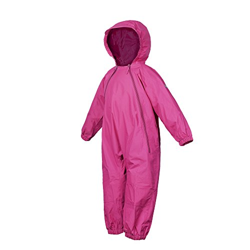 Splashy One Piece Rainsuit and MudStopper Coveralls(6-12mths, Hot Pink) Breathable Rainsuits