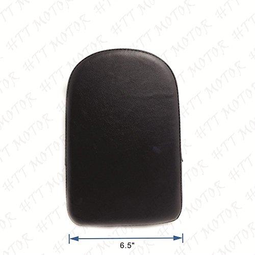 Backrest Pad - Black Rectangular Backrest Sissy Bar Cushion Pad For Kawasaki Honda Suzuki Harley