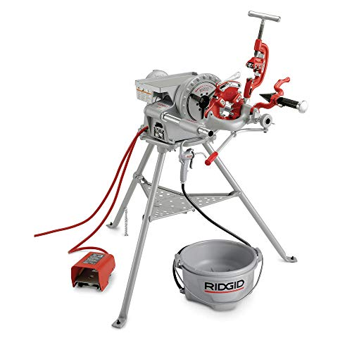 RIDGID 15682 Model 300 Power Drive Complete, 38 RPM Pipe Threading Machine and 1/2-Inch to 3/4-Inch, 1-Inch to 2-Inch Universal Alloy Threading Die Heads, Oiler