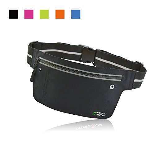 fitters-niche-ultraslim-fitness-sport-running-belt-fanny-pack-water-resistant-360-degree-3m-reflecti
