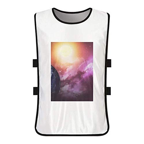 DIYthinker Planet Earth Red Blue Colorful White Training Vest Jerseys Shirt Cloth