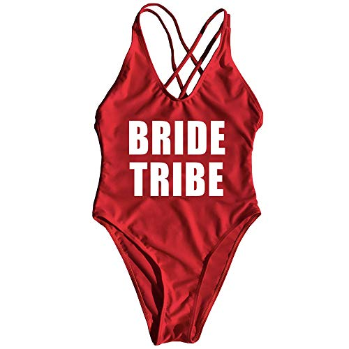 One Piece Swimsuit Bride Tribe Monokini Jumpsuit Mayo Badpak Maillot - Classic Maillot Swimsuit