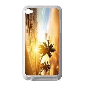 Beautiful Sun Set Beach Scenery Hot Fashion Design Case for IPod Touch 4 TPU (Laser Technology) Style 02