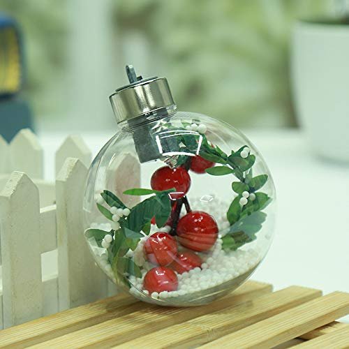 TARGER LED Transparent Plastic Christmas Ball,Creative Snowflake Ball Ornaments Christmas Tree Lights.(7 Colors) (Transparent Ornaments Christmas)