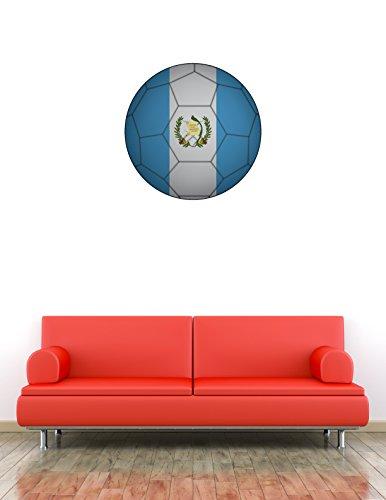 Guatemala Flag Soccer Ball Home Wall Decal Vinyl Sticker 22'' X 22'' (Soccer Balls Guatemala)