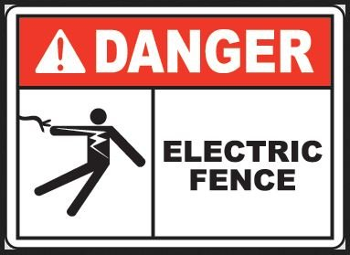 Nosa Sabs Ew35 Clip On Electric Fence Sign
