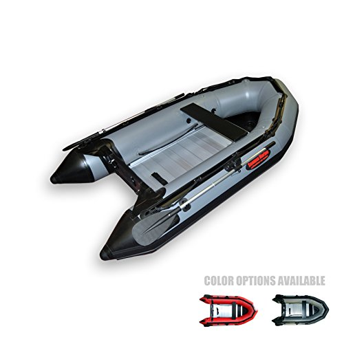 SEAMAX Ocean290 Heavy Duty 9.5 Feet Inflatable Boat with Rigid Aluminum Floor and V-Shape Soft Bottom (Dark Grey)