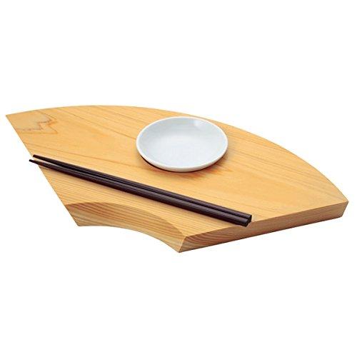 TOSARYU Handmade Hinoki Wooden Sushi Plate (HAIKU PLATE) by TOSARYU
