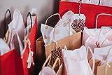 White Kraft Paper Gift Bags Bulk with Handles 8 X