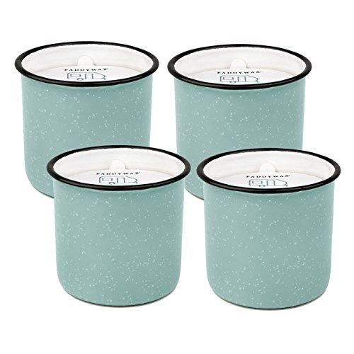 Paddywax Alpine 9.5 Oz. Enamelware Mint Fresh Air & Sea Salt Candle - Pack Of 4