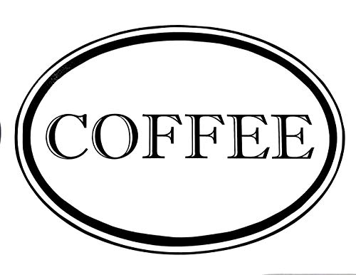 Custom Vinyl Coffee Jar Decal - Oval Border Kitchen Pantry Sticker, Canister Label - Vinyl Lettering - Traditional Home Decor