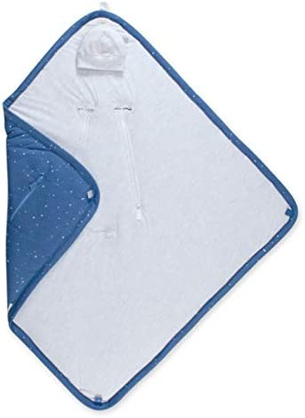Nid d'ange | Nid dange siege auto | Nid d ange | Couverture Nomade | Nid d'ange BISIDE doublé PADY JERSEY | 012 m | Motif étoile | Bleu denim Shade