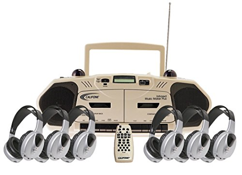 Califone 2395IRPLC-6 Wireless Infrared Cassette/Recorder Music Maker 6-Person Learning ()