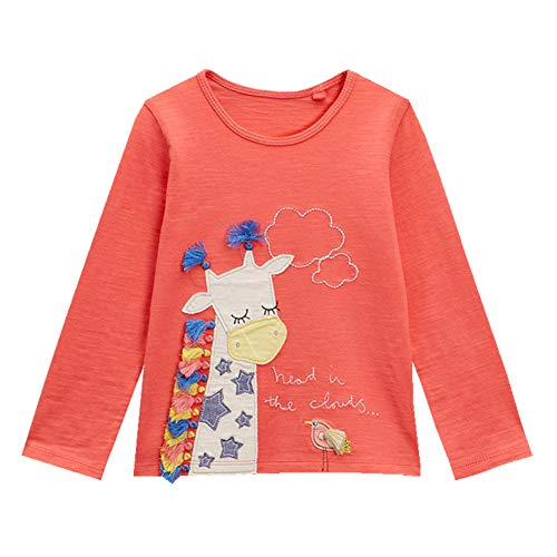 Little Girls Clothes Tee T-Shirt Stylish Long Sleeves 2t - 7t (7, Tomato)