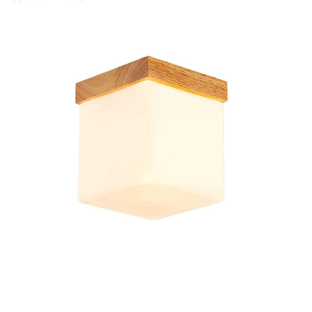 Entrada de estilo sencillo - - Japonés cabeza sólida de madera cuadrados simples nuevo corrotor chino lámparas de techo del pasillo del balcón