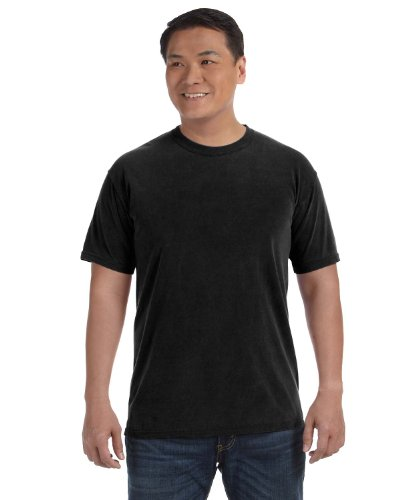 Garment T-shirt Washed Short Sleeve (Comfort Colors Pigment-Dyed Short Sleeve T-Shirt. 1717 M Black)